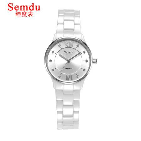 绅度正品陶瓷女士手表 女表时尚潮流手表防水石英表专柜女手表