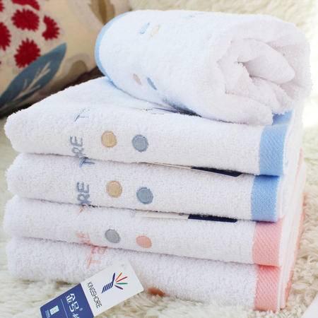 金号毛巾 专柜正品 纯棉情侣洗脸面巾 白色柔软吸水美容巾