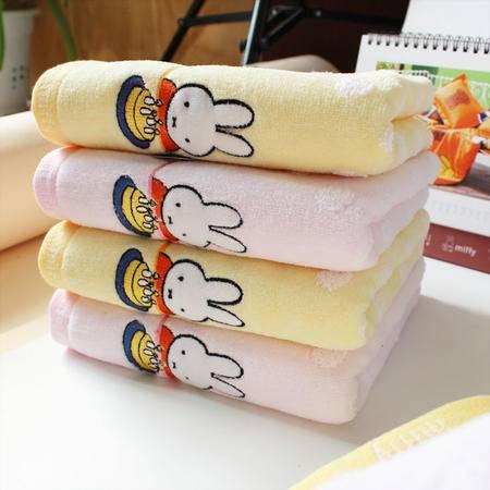 金号米菲 纯棉小毛巾 MFT1002WH全棉童巾无捻柔软舒适 生日小蛋糕