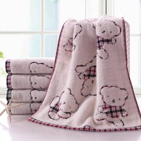 金号毛巾正品  可爱小熊 超柔 无捻双层纱布面巾