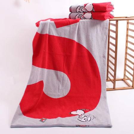金号/史努比专柜正品 纯棉加厚运动红白S大号成人抹胸浴巾 特价