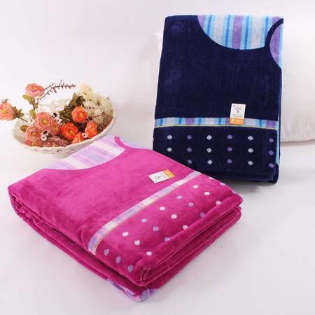 金号正品 全棉午睡毛巾被 纯棉单人毛巾毯加厚柔软空调毯