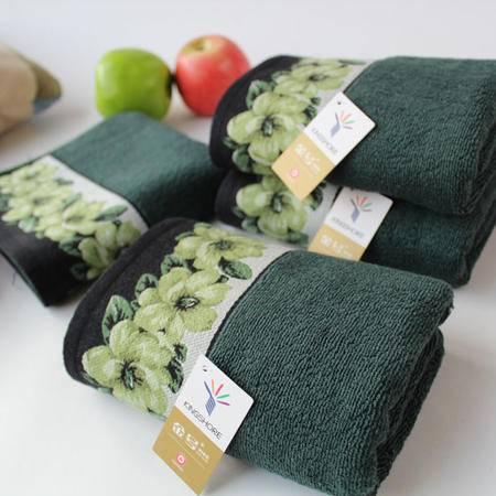 金号专柜正品枕巾 纯棉情侣富贵大气牡丹 耐脏素雅提缎枕巾