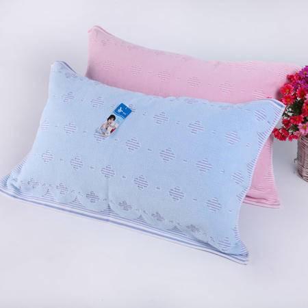 孚日纯棉枕巾 一对提锻浮线 全棉粗布 柔软舒适 情侣枕巾新品正品