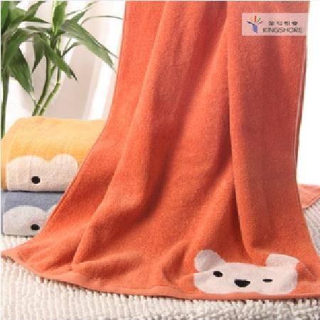 金号浴巾专柜正品 纯棉情侣柔软 成人加厚加大卡通小熊可爱毛巾料