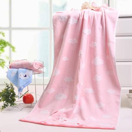 包邮 金号毛巾正品 全棉宝宝 无捻割绒和平鸽温馨柔软吸水浴巾