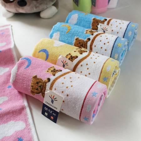 金号毛巾专柜正品纯棉金号儿童吸水毛巾毛绒卡通小熊小毛巾
