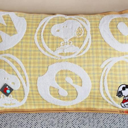 儿童枕巾 史努比卡通纯棉  全棉情侣金号专柜正品 透气一对包邮
