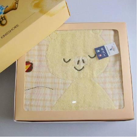 金号专柜正品儿童纯棉被 婴儿宝宝卡通纱布柔软舒适方形抱毯