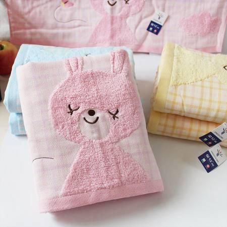 金号正品专柜特价 婴幼儿童宝宝浴巾 纯棉双层纱布吸水卡通超柔软