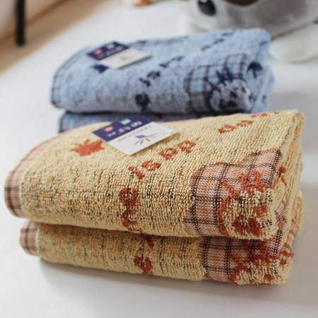 金号正品  纯棉  格子提缎  童巾  小毛巾  儿童毛巾卡通 T1056