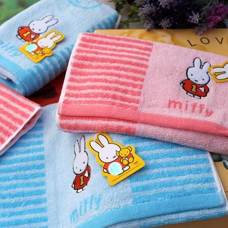 金号专柜 正品 家居 纯棉米菲兔儿童毛巾 吸水童巾 卡通特价面巾