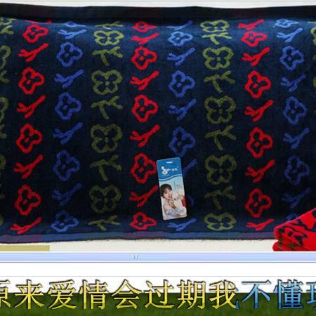 洁玉专柜正品枕巾纯棉割绒加厚一对单人情侣枕用枕