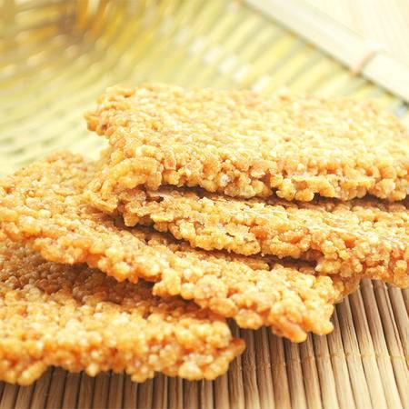 【泾县馆】安徽特产 糯米锅巴 农家手工休闲小吃零食米饼干原味248g*3包邮