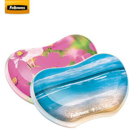 范罗士/Fellowes  台湾生产硅胶鼠标腕托 护腕鼠标垫 游戏办公手托 海洋/花朵