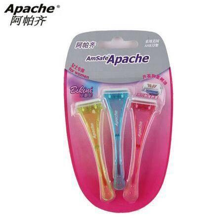 【美国进口刀片】Apache阿帕齐 比基尼女士脱毛刀 剃毛刀腋毛腿毛美国进口刀片 3支