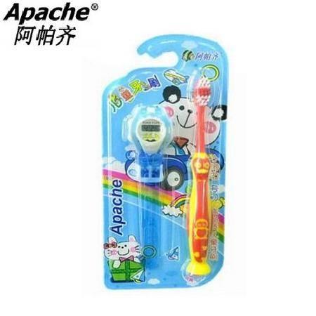 Apache阿帕齐细丝进口软毛小头儿童牙刷1支装 送手表 可批发