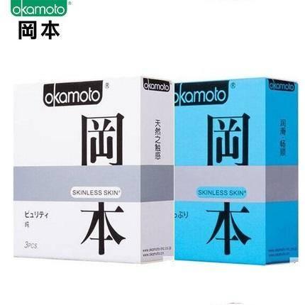 冈本避孕套极限超润滑+超薄纯(共6片)  原装进口Okamoto