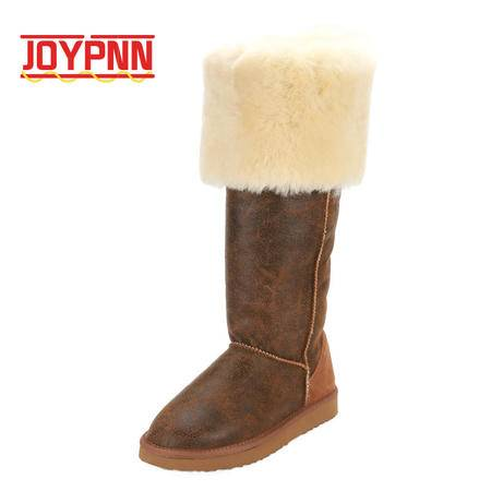 JOYPNN 羊皮毛一体 女士 雪地靴 79943172