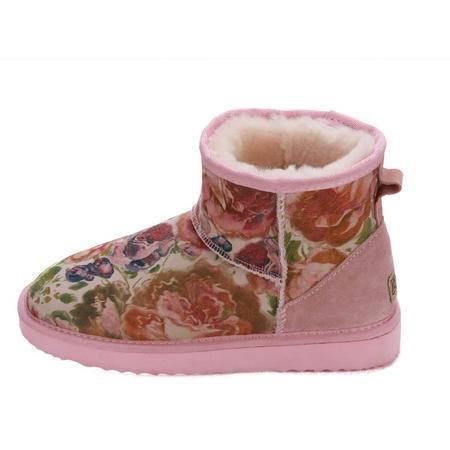 JOYPNN 羊皮毛一体 女士 雪地靴 79145854