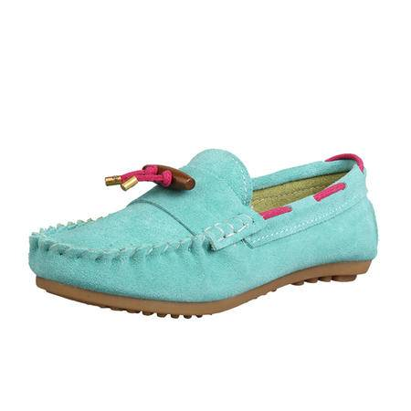 JOYPNN 牛皮绒面 女士 纯色豆豆鞋命运款 20140510