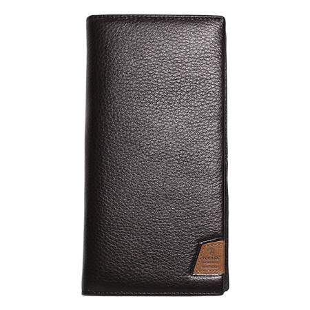 啄木鸟(TUCANO)男士钱包经典商务多卡位长款牛皮票夹钱夹