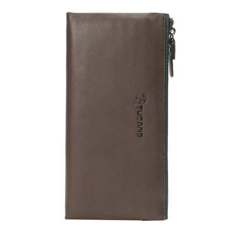 啄木鸟(TUCANO)男士手包头层牛皮欧美时尚大容量长款钱包票夹