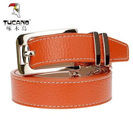啄木鸟(TUCANO)女士皮带时尚经典系列针扣牛皮腰带 TDB0431-15D0
