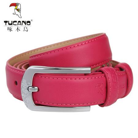 啄木鸟(TUCANO)女士皮带时尚经典系列针扣牛皮腰带