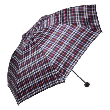 天堂伞 苏格兰格子三折钢杆晴雨伞