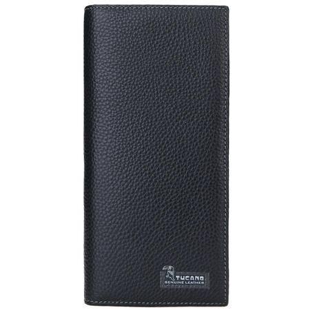 啄木鸟(TUCANO)男士钱包简约商务横款牛皮票夹 WAA1323A-88B0 黑色