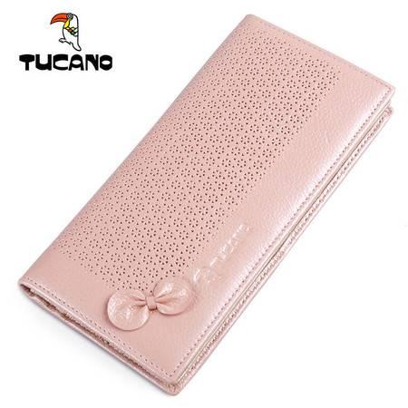 啄木鸟(TUCANO)女士钱包时尚休闲长款牛皮票夹 TAB0531-1130 粉色