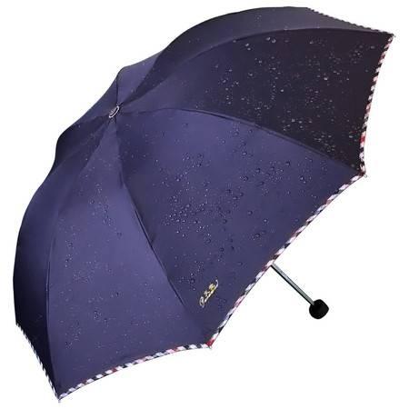 天堂伞强力拒水一甩干加大加固钢杆双人三折商务晴雨伞