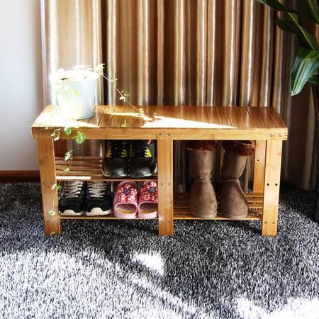 【醇生活】竹换鞋凳穿鞋凳 时尚鞋架子 置物架储物 收纳鞋柜