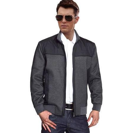 秋款中老年夹克外套男宽松夹克中老年男大码加肥夹克男装单装HR8811