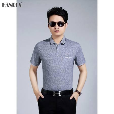 新款男士短袖t恤爸爸体恤大码上衣中老年夏装短袖真口袋T恤衫LML6610 6624