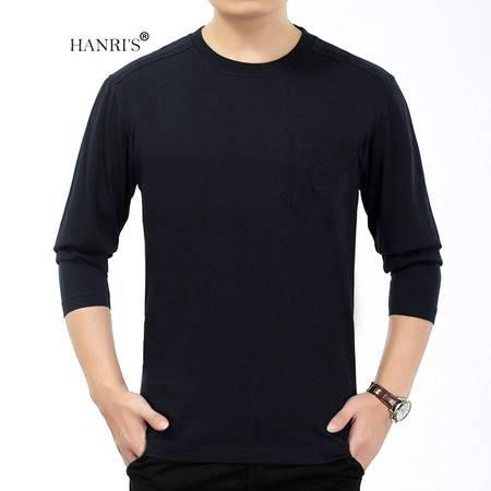 HANRI'S/瀚瑞秋季新款圆领上衣 加大加肥老年装 多色宽松长袖T恤 LML2200
