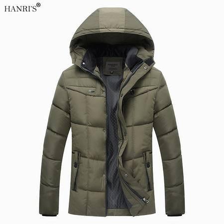 瀚瑞保暖爸爸装冬季棉服中老年男士加厚棉袄冬装外套父亲脱卸帽大码棉衣WXP14款 1618款