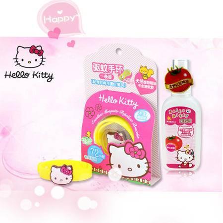Hello Kitty驱蚊组合 (驱蚊手环+驱蚊液)