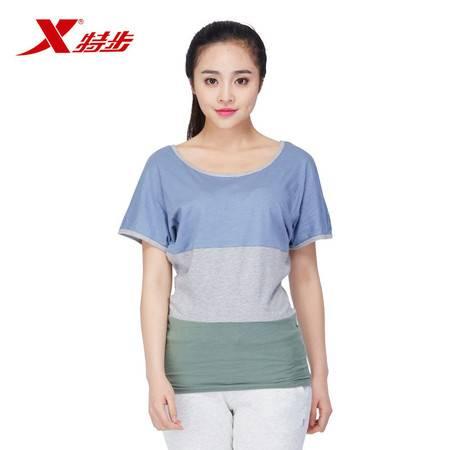 特步正品夏季女生棉质短T恤987228010503