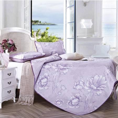 喜芙妮家纺 紫魅冰丝席三件套