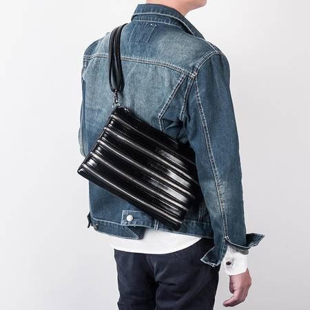 佑一良品MU系列男士手包信封包手拿包男女 韩版休闲软皮超薄夹包