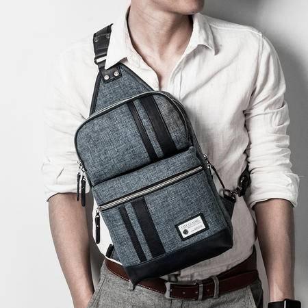 佑一良品潮流休闲iPad胸包男女式单肩包斜挎包韩版运动布斜背男包