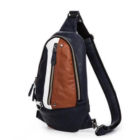 佑一良品胸包男士背包复古风休闲男包韩版潮包ipad背包时尚手机包
