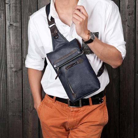 佑一良品新款斜挎胸包男女单肩背包休闲小跨包韩版潮流运动手机包