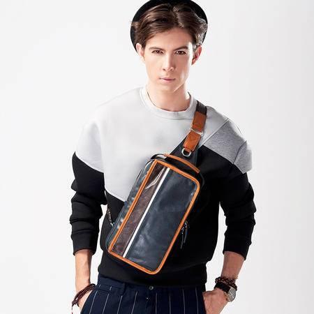 佑一良品男包牛皮胸包真皮男包单肩包斜挎背包韩版潮包手提休闲包