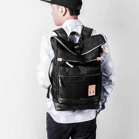佑一良品HMF系列男士双肩包背包女休闲学生书包旅行包韩版潮迷彩