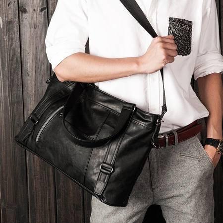 佑一良品男包单肩包休闲包韩版潮流男士包包斜挎包手提电脑包皮包