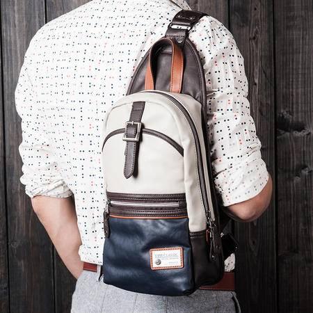 佑一良品男女胸包韩版休闲男士包包单肩包斜挎包小背包撞色潮跨包