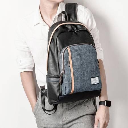 佑一良品男士双肩包韩版潮学生书包背包男女英伦学院电脑包旅行包